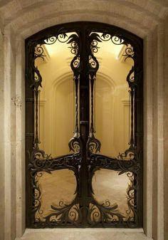 Art Nouveau ~ ensure the doors match the building