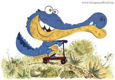 The joyride Nursery Art Fine Art Print by TerrapinAndToad on Etsy See You Later Alligator, Terrapin, Lettering Tutorial, Room Art, Cartoon Kids, Toad, Limited Edition Prints, Kids Cards, Nursery Art