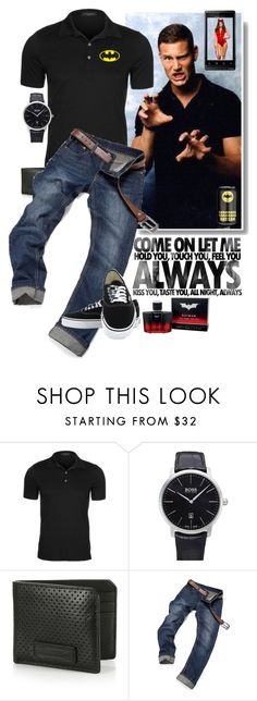 """""""Always"""" by sasane ❤ liked on Polyvore featuring Strenesse, Blink, BOSS Hugo Boss, Uri Minkoff, Vans, men's fashion and menswear"""