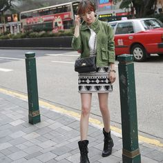 [Miamasvin] Ethnic Pattern Mini Skirt