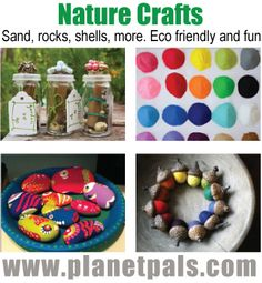 Summer fun!  All Nature All The Time CRAFTS from natural Materials-sand rocks more #moms #kids