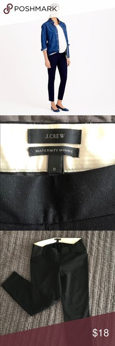 J. CREW Maternity Minnie crop pants J. Crew's sleek and slim-fitting Minnie pants in a maternity version. It has the same chic cropped fit as the Minnie but with stretchable sides. It's a Maternity pant must! J. Crew Other