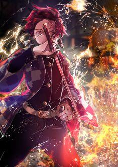 Anime: Demon Slayer Kimetsu No Yaiba <Don't forget to support the artist> Demon Slayer, Slayer Anime, Fanarts Anime, Anime Characters, Anime Love, Anime Guys, Manga Art, Anime Art, Cool Anime Pictures