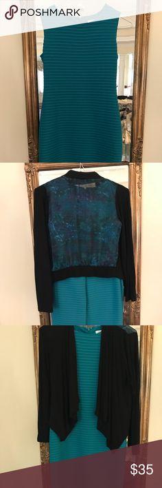 Calvin Klein Blue Dress Calvin Klein Blue/Aqua Dress (size 2) Never Worn Calvin Klein Dresses Midi