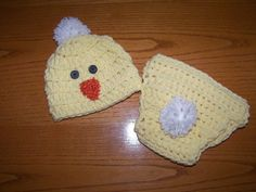 Baby Chick Hat and Diaper Cover Set PHOTOGRAPHERS by mandag433, $30.00