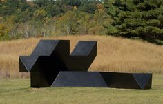 "Tony Smith Source, 1967 Painted steel 11' x 29' 6"" x 34'"