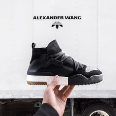 "4,671 Likes, 49 Comments - ALEXANDER WANG (@alexanderwangny) on Instagram: ""Inner bootie construction provides a sock-like fit for the #adidasOriginalsxAW Basketball shoe.…"""