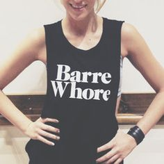 Limited Edition Tank that can be paired perfectly with our Limited Edition Barre Whore Pop Socks. Show your love for the barre inside and out of the studio. Made locally in Los Angeles. Bamboo ultra soft cotton.