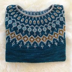 Starfall kits in the same yarn and colorways as my original pattern sample are now available from ✨ 💙🌙 Kits can… Knitting Projects, Knitting Patterns, Icelandic Sweaters, Fair Isle Knitting, Vintage Sweaters, Pulls, Knitted Hats, Knitwear, Knit Crochet