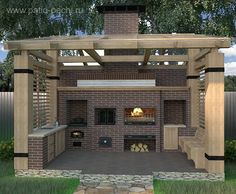 Barbecue # # # # # # # kitchen and pool entertaining Modern Outdoor Kitchen, Build Outdoor Kitchen, Backyard Pavilion, Backyard Patio Designs, Barbecue Garden, Built In Braai, Barbecue Design, Outdoor Fireplace Designs, Terrace Design
