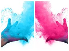 Holi Powder Now Available! Confetti Gender Reveal, Gender Reveal Balloons, Baby Shower Gender Reveal, Color Run Powder, Pink Girl, Boy Or Girl, Holi Powder, Holi Colors, Baby Shower Supplies