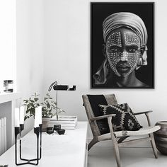Featuring a striking monochrome image of an African tribal boy from the Omo Valley set against a dramatic dark background, this canvas print was originally hand painted by our in-house artist team, and now available as a reproduction stretched and ready-to-hang canvas art piece. Size & frame colour options available. We ship worldwide. #ThePrintEmporium #tribal #african #art #canvas #print #wallart #blackandwhite www.theprintemporium.com.au