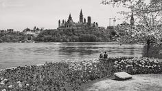 """""""Together as one"""" - I took this mobile phone photo of beautiful scene from Hull Quebec of the Ottawa river, Parliament hill and a couple sharing the view. https://twitter.com/garycorcoranart"""