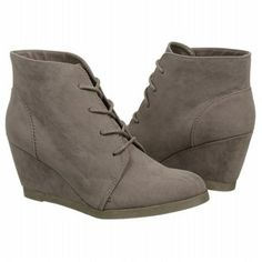 $60. also comes in tan, Madden Girl Domain Wedge Boot Grey