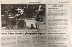 Punxsutawney Spirit on Alex Shumaker drummer and Brody Kolash Photographer for Relay for Life in DuBois City Park.