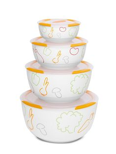 Набор керамических салатников с крышками, OURSSON на Маркете VSE42.RU Tableware, Dinnerware, Tablewares, Dishes, Place Settings