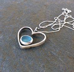 Sea glass jewelry  Beautiful blue sea glass by FatCatsOnTheBeach