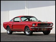 Rare 1966 Shelby GT350 Hertz in Candy Apple Red and Gold, equipped with a rare Paxton supercharger