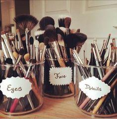 18 Trendy Makeup Vanity Organization Ideas Make Up Brush Holders Make Up Humor, Rangement Makeup, Make Up Storage, Storage Ideas, Storage Boxes, Storage Solutions, Storage Cart, Muji Storage, Storage Drawers