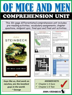 This is a full comprehension unit including questions and vocabulary for all chapters, a character sketch assignment with rubric, a mid-point quiz, final test and final project assignment.