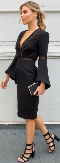 bb54faea559612a Awesome 46 Stunning Black Dresses Ideas To Make Us Look Elegant. More at  aksahinjewelry.