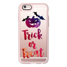 iPhone 6 Plus/6/5/5s/5c Case - Trick or Treat ($40) ❤ liked on Polyvore featuring accessories, tech accessories, iphone case, iphone cover case, iphone hard case and apple iphone cases