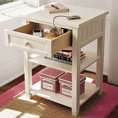 nightstand that charges your stuff...idk how this works but I want it!