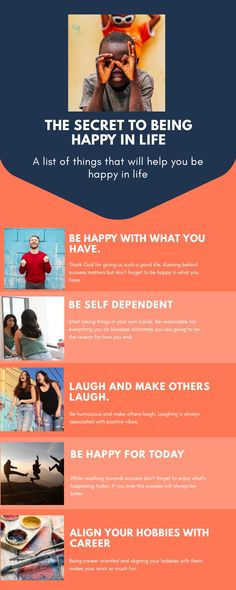 This infograph tells us about how to be happy in our lives. Joy Of Life, Our Life, Life Is Good, Time Heals Everything, Self Dependent, Need A Girlfriend, Reasons To Be Happy, Good Student, Fancy Cars