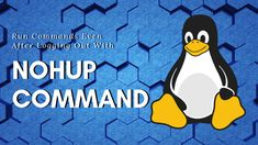 This article will show you how you can start a process and keep it running even after you have logged out using the nohup command. Background Process, Computer Security, Simple Words, To Loose, Linux, Tutorials, Running, Tips, Keep Running