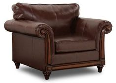 Amazon.com: Simmons San Diego Coffee Leather Chair: Home & Kitchen
