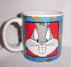 Vintage Sakura Bugs Bunny Coffee Mug Cup 1993 Warner Bros New Looney Tunes