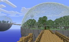 Picture of How To Make A Glass Dome On Minecraft