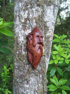 elf wood spirit living room art OOAK by WoodforddellDesigns