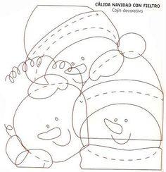 Almofada de Natal - Molde