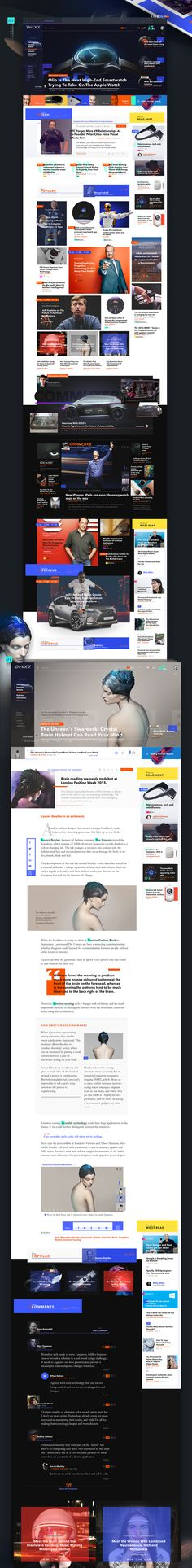 This project involves the redesign of the Yahoo! News platform. The idea behind is to create a functional system for various devices where my interests fit my needs browsing news and entertainment. The aim is to improve functional and visually the site, t…