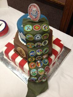 Eagle Scout Court Of Honor  Cake idea w/sash (fondant)
