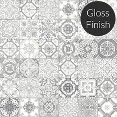 "Marrakesh Light Grey Mix 8""x 8"" Designer Gloss Finish Tile Collection $3.98 per square foot"