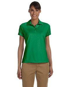 c23c4d68a5a27c Chestnut Hill Womens Short Sleeve Performance Plus Jersey Polo Shirt CH180W  green XXLarge