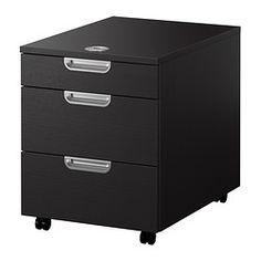 GALANT Komoda na kółkach, czarnybrąz - 45x55 cm - IKEA
