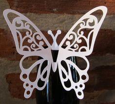 Mariposas Caladas Papel Perlado Para Decorar Copas Y Tragos - $ 70,00