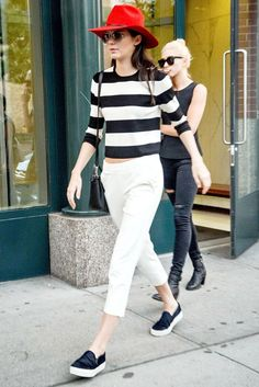 ee760e14daa What Kendall Jenner Wore For Fashion Month  Red hat