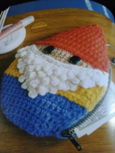 Brenda kb Anderson beastly crochet. Gnome coin purse