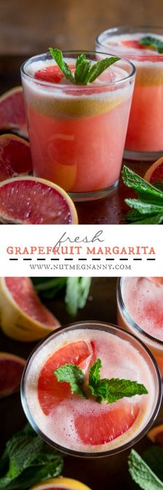 This fresh grapefruit margarita is packed full of grapefruit and lime flavor. Serve it on the rocks or frozen - either way is totally delicious!