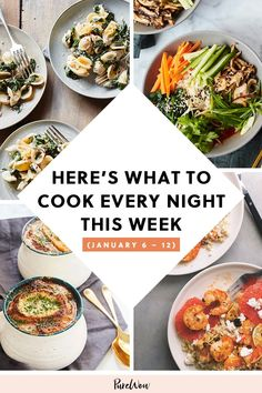 Here's What to Cook Every Night This Week (January 6 – prep Pork Recipes For Dinner, Italian Dinner Recipes, Delicious Dinner Recipes, Seafood Dinner, Dinner Meal, Still Tasty, Savory Salads, Cookbook Recipes, What To Cook