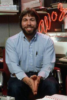 Steve Wozniak February 1984 Steve Wozniak, Steve Jobs, February
