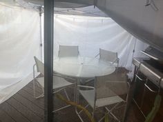 Here's another view of our new deck-tent.