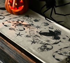 Medieval Masquerade Print Table Runner
