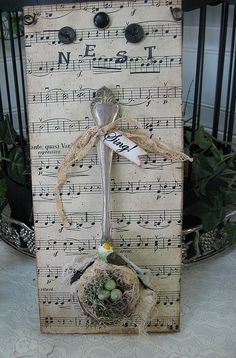 What a simple yet beautiful decor item for your shabby chic or french style room.  I just have to make one of these.