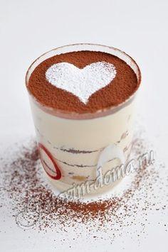 Рецепт: Тирамису -  Состав      на форму размером: 32,5х23 см, глубиной 6 см     яичные желтки - 10 шт,     сливки 35% - 500 мл,     сыр маскарпоне (комнатной температуры) - 500 г,     печенье савоярди (дамские пальчики) - 300-400 г (около 30-46 шт),     кофе эспрессо - 300-400 мл,     сахарная пудра - 200 г,     какао-порошок - 30-40 г,     ликер Бейлис - 20 мл,     шоколад (горький) - 20 г
