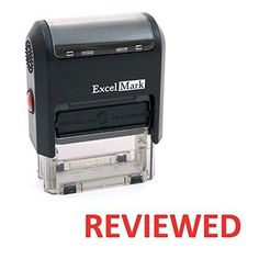 REVIEWED Self Inking Rubber Stamp - Red Ink (ExcelMark A1539)